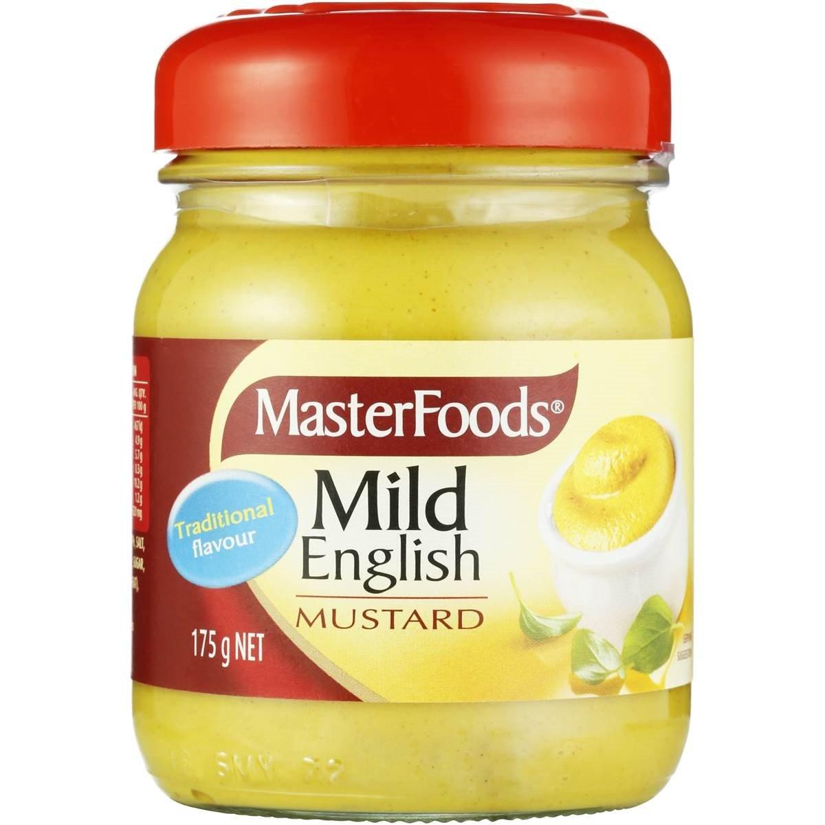 Masterfood Mustard Mild English 175g