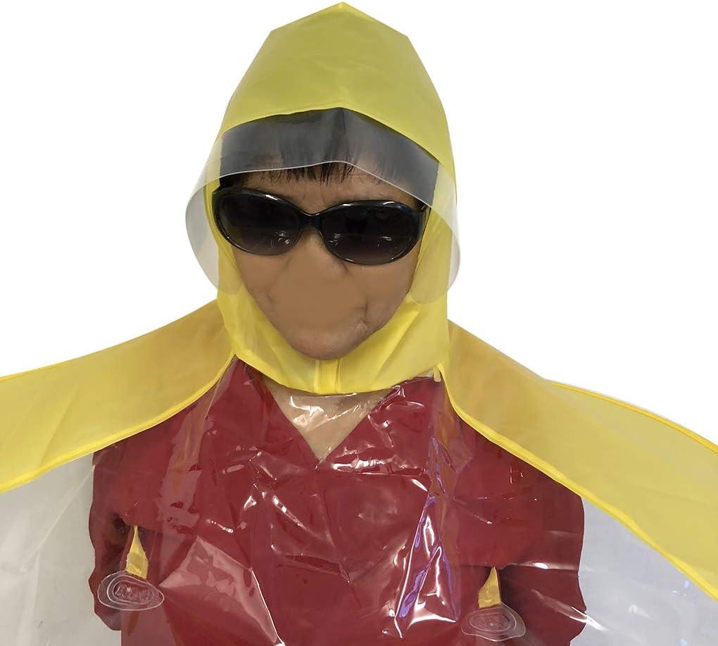 Youth Adult Yellow UFO Raincoat Hand Free Umbrella Hat L Adult 57-65