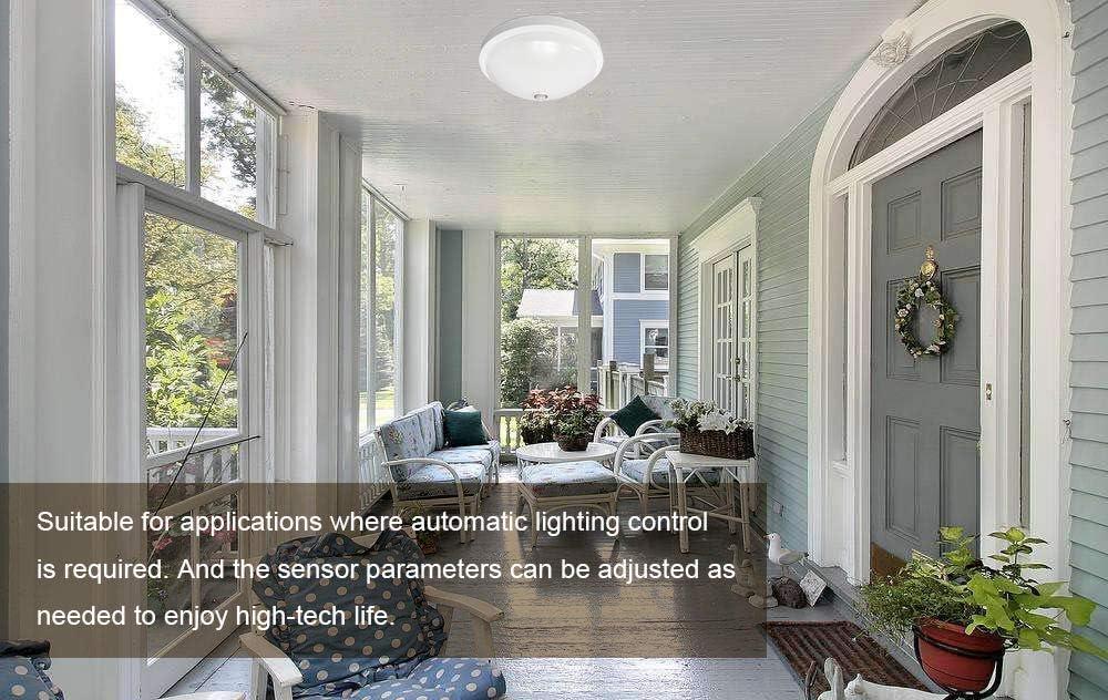 Luz de techo LED, 1600LM, luz blanca cálida, con sensor PIR ...
