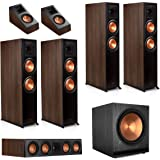 Klipsch RP-8060FA 5.1.4 Dolby Atmos Home Theater System - Walnut