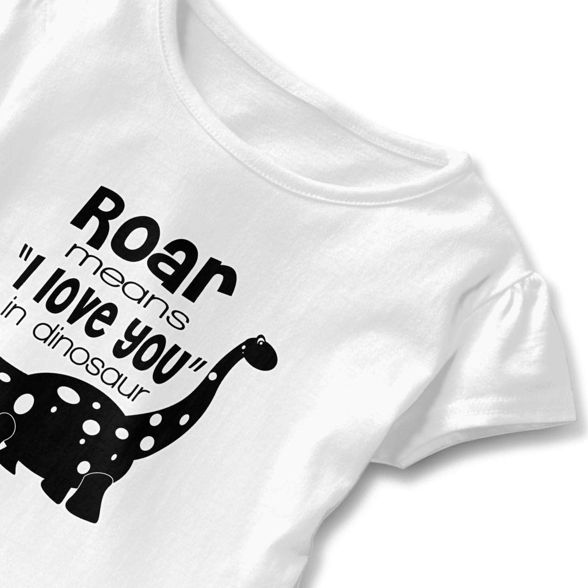 Roar Means That I Love You Dinosaurs Baby Skirts Adorable Kids T Shirt Dress Short Sleeve Flounces Layette