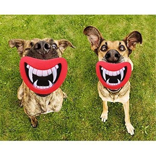 Hengsong Lustig Hundespielzeug Hunde Lippen Kauspielzeug Quietschspielzeug (Rot)