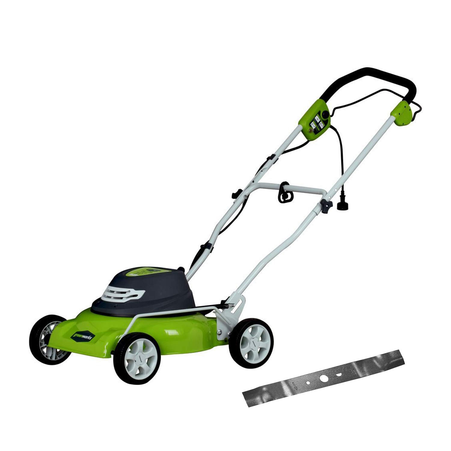 Greenworks 18-Inch 12 Amp Corded Electric Lawn Mower with Extra Blade 25012 by Greenworks