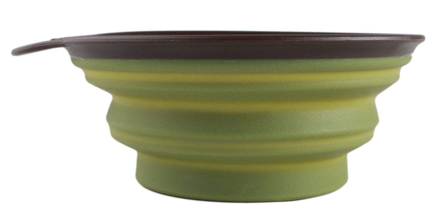 Dexas Popware for Pets Collapsible Travel Cup/Bowl, Large, Green