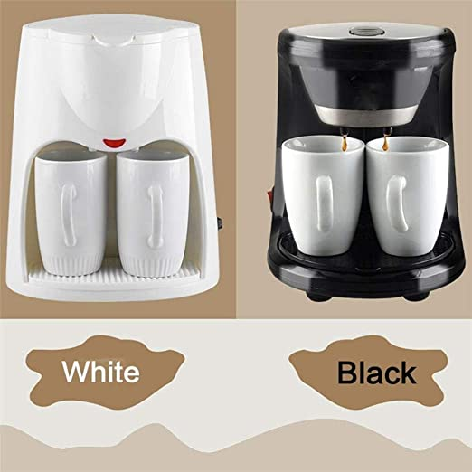 Cafetera Mini Doble Uso eléctrico automático 2 Tazas de café por Goteo Máquina de té (Color : Negro): Amazon.es: Hogar