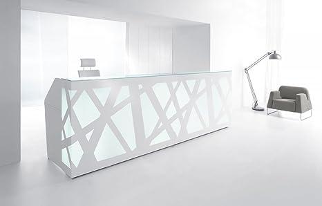 Reception Ufficio Bianco : Ricezione bancone zig zag bianco ricezione bancone reception