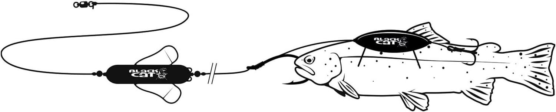 Welsangeln mit totem K/öderfisch Black Cat Dead Float Unterwasserpose U-posen zum Wallerangeln Unterwsserposen f/ür Welsmontage /& Wallervorfach