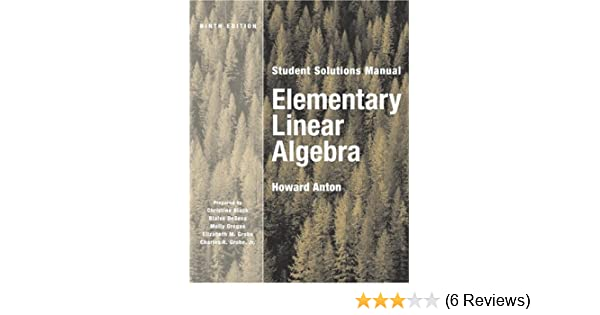 Elementary Linear Algebra Student Solutions Manual Howard