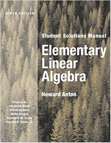 Elementary linear algebra student solutions manual howard anton elementary linear algebra student solutions manual 9th edition update edition fandeluxe Choice Image