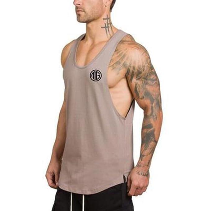 SEVENWELL Men Performance Tank Top Gym Sport Tee Active Casual Muscle Sleeveless Shirt sReQ3PX