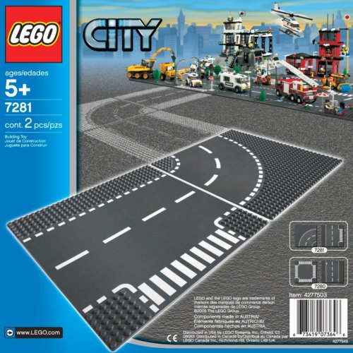 LEGO City T-Junction & Curves (Lego City Baseplate)
