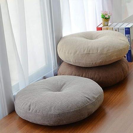 Bloomma Almohadilla del Asiento Almohada Cojín Redondo para El Suelo Tatami Almohada para El Suelo Línea Meditación Estera para El Piso Cojín Estera De Yoga Bolster