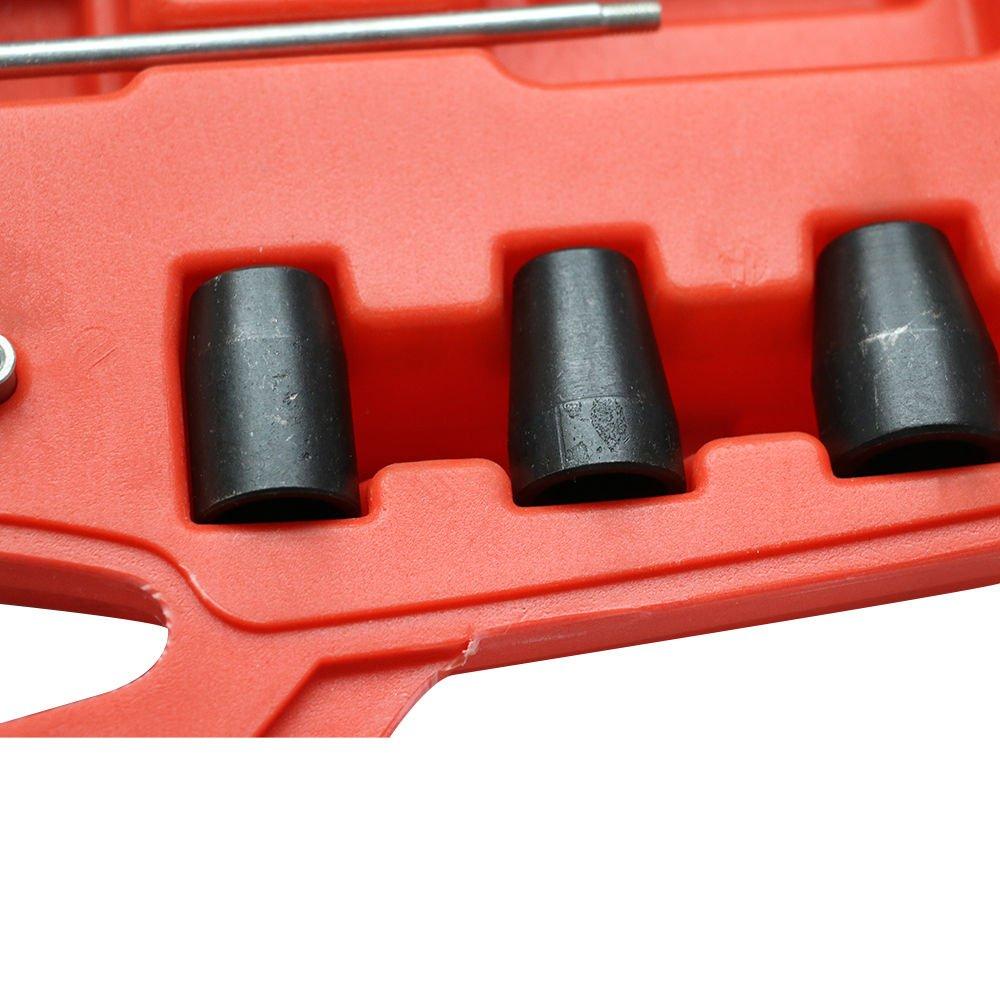 Kit de limpieza del asiento del inyector y del pozo de inspección Guía de cortadores de asientos, diesel Juego de limpieza del asiento del inyector: ...