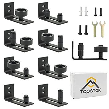 Barn Door Floor Guide Roller - Wall Mount Adjustable Channel Stay Roller  with 8 Different Setups Fit for All Sliding Barn Doors, Sits Flush to  Floor,