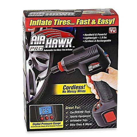 Airhawk Air - New! Air Hawk Pro Cordless Portable Air Compressor - As Seen On TV!! Fast Priority Shipping
