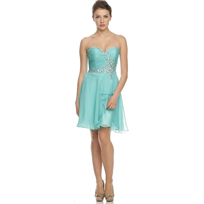 8f39063faa5b Juliet Womens Semi Formal Ruched Bodice Dress Jade Extra Large at ...