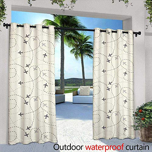 berrly Exterior/Outside Curtains,Tiger's ferociously Staring at The Camera,W84 x L96 Outdoor Curtain for Patio,Outdoor Patio Curtains