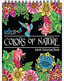 ColorIt Colors Of Nature Adult Coloring Book