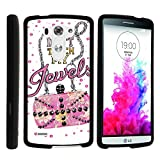 LG G3 Phone Cover, Stylish Personalized Protective Snap On Hard Case Phone Protector for LG G3 (D850, D851, D855, VS985, LS990, US990) by MINITURTLE - Don't Touch My Jewels