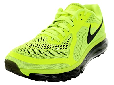 hot sale online 28775 ee22c Nike Men s Air Max 2014 Volt Black Barely Volt White Running Shoe 9