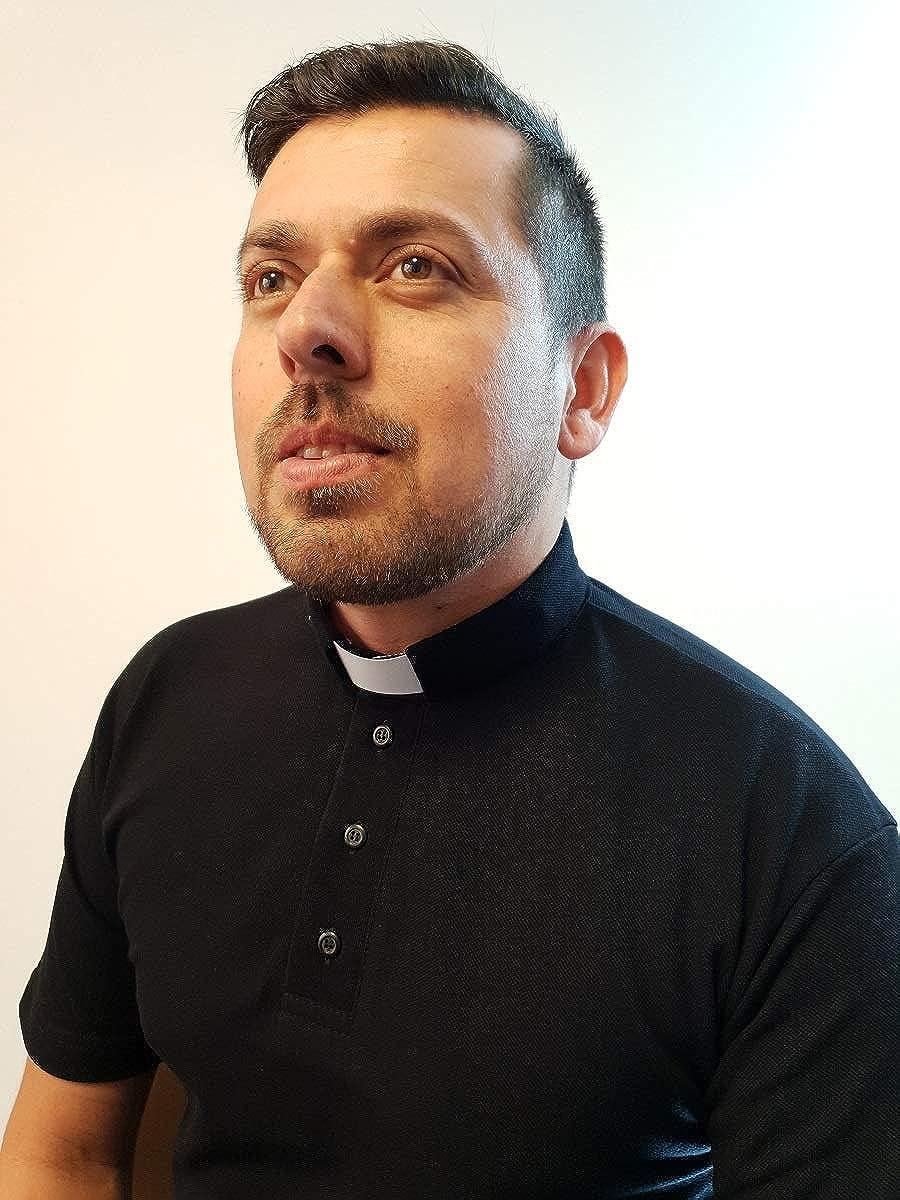 Sacerdote ANCORA INDUMENTA Camiseta Polo para Cura Manga Corta como Fuera una Camisa de Clergyman