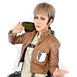 2013 Wig Jean Kirstein Attack on Titan Short Blonde Black Anime Cosplay Party Wig Costume +