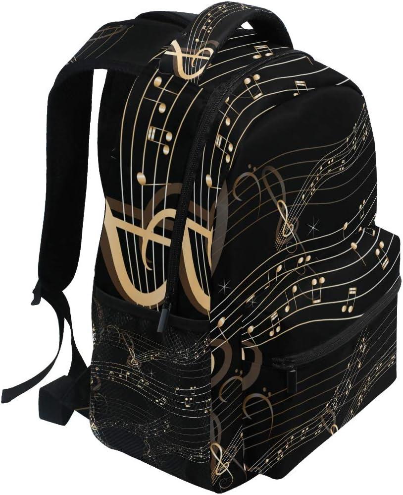 Abstract Music Backpacks Travel Laptop Daypack School Bags for Teens Men Women