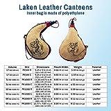 Laken - Spanish Leather Wine Bota Water Canteen Kidney Shape - 1.5 Liter