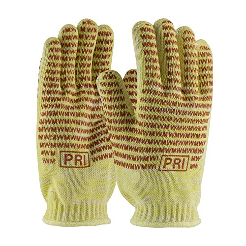 Mill Hot Knit (Kevlar / Cotton Seamless Knit Hot Mill Glove with Cotton Liner and Double-Sided EverGrip Nitrile Coating - 24 oz 43-552S, (8))
