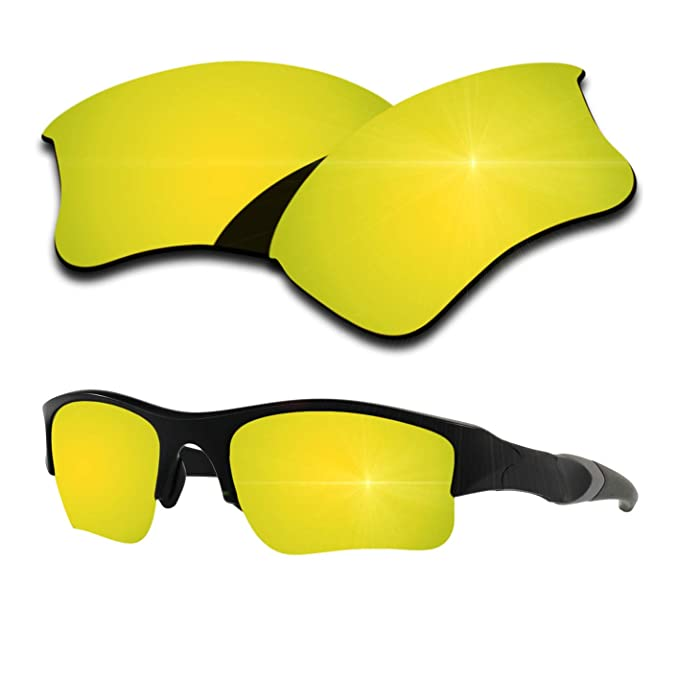 2c926fe23d Polarized Replacement Lenses for Oakley Flak Jacket XLJ - 24K Gold Mirrored  Coating