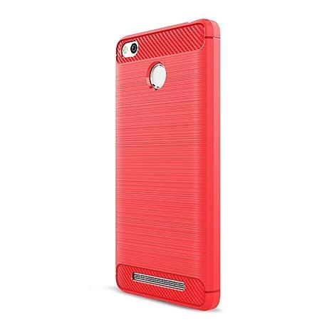 Funda XiaoMi RedMi 3/3S - Moda Delgado TPU Cáscara Prueba de Choques Suave Cubierta Posterior Carcasa y Fibra de Carbono Diseño Funda para XiaoMi ...
