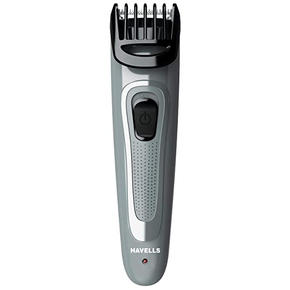 Havells BT5100C Micro USB rechargeable Beard & Moustache Trimmer with hypoallergenic stainless steel blades allows Zero Trim with .5 mm precision