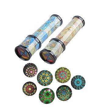 Kindercomputer Magische klassische Kaleidoskop Spinning Spiel Lernspielzeug Kinder Geschenk