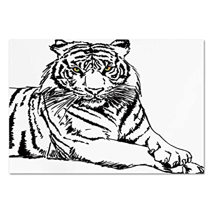Amazon Com Large Wall Mural Sticker Safari Sketch Of A Posing
