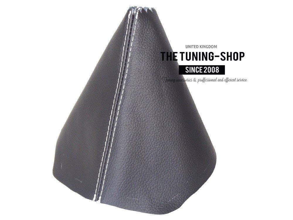 For Mazda CX-5 FL 2015-17 Shift Boot Black Genuine Leather White Stitching