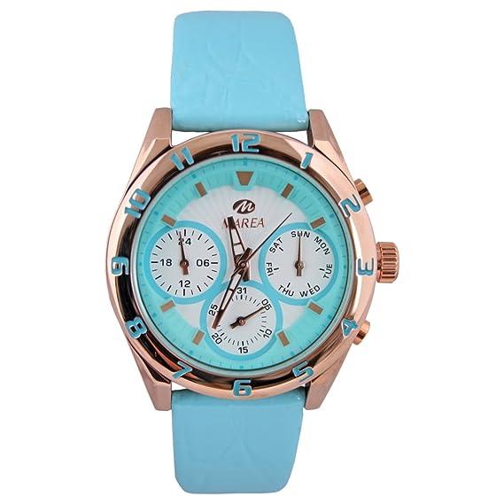 B35258/4 Reloj Marea Mujer, multifunción, caja de acero, correa de cuero, sumergible 50 metros, garantía 2 años.: Amazon.es: Relojes