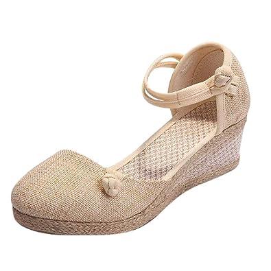 Sandales Talon Chaussures Winjin Femme Bout Oecxwrbd Compensées Fermé pGVqSUzM