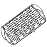 fish basket for grilling - Fish Grill Basket SM - PERFECT FOR LARGE THICK FISHES - BBQ Rack Made From Dishwasher Safe Stainless Steel with Wire Mesh Food Holder - Great for Grilling Barbecue Vegetables & Shrimp - Cave Tools