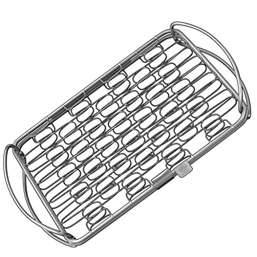 Fish Grill Basket (sm) - PERFECT FOR LARGE THICK FISHES - BBQ Rack Made From Dishwasher Safe Stainless Steel with Wire Mesh Food Holder - Also for Grilling Barbecue Vegetables & Shrimp - Cave Tools (Bass Pro Fryer compare prices)