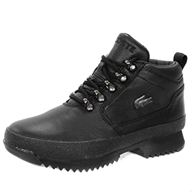 0f53d8e1e3c Lacoste Upton Leather Ankle Hi Kids Boots - Black 5 UK  Amazon.co.uk ...
