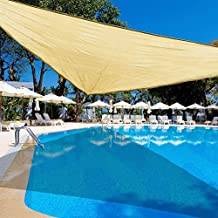 Sundale Outdoor 12'x12'x12' Triangle Sun Shade Sail UV Outdoor Patio Cover Pool Awning with Hardware Kit (Beige)