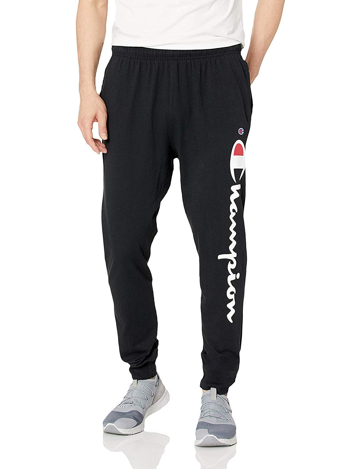 Champion Men's Jersey Jogger, Black, X-Large by Champion