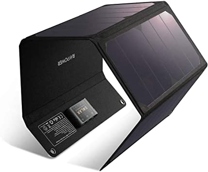Cargador solar RAVPower de 28 W, resistente al agua, panel solar ...