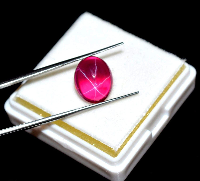 6 rayons /étoile rubis 65,00 ct lot de 10 pi/èces naturel /étoile rouge rubis ovale cabochon pierres pr/écieuses pour la fabrication de bijoux pierres pr/écieuses