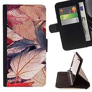 BullDog Case - FOR/Sony Xperia m55w Z3 Compact Mini / - / Plant Nature Forrest Flower 49 /- Monedero de cuero de la PU Llevar cubierta de la caja con el ID Credit Card Slots Flip funda de cuer