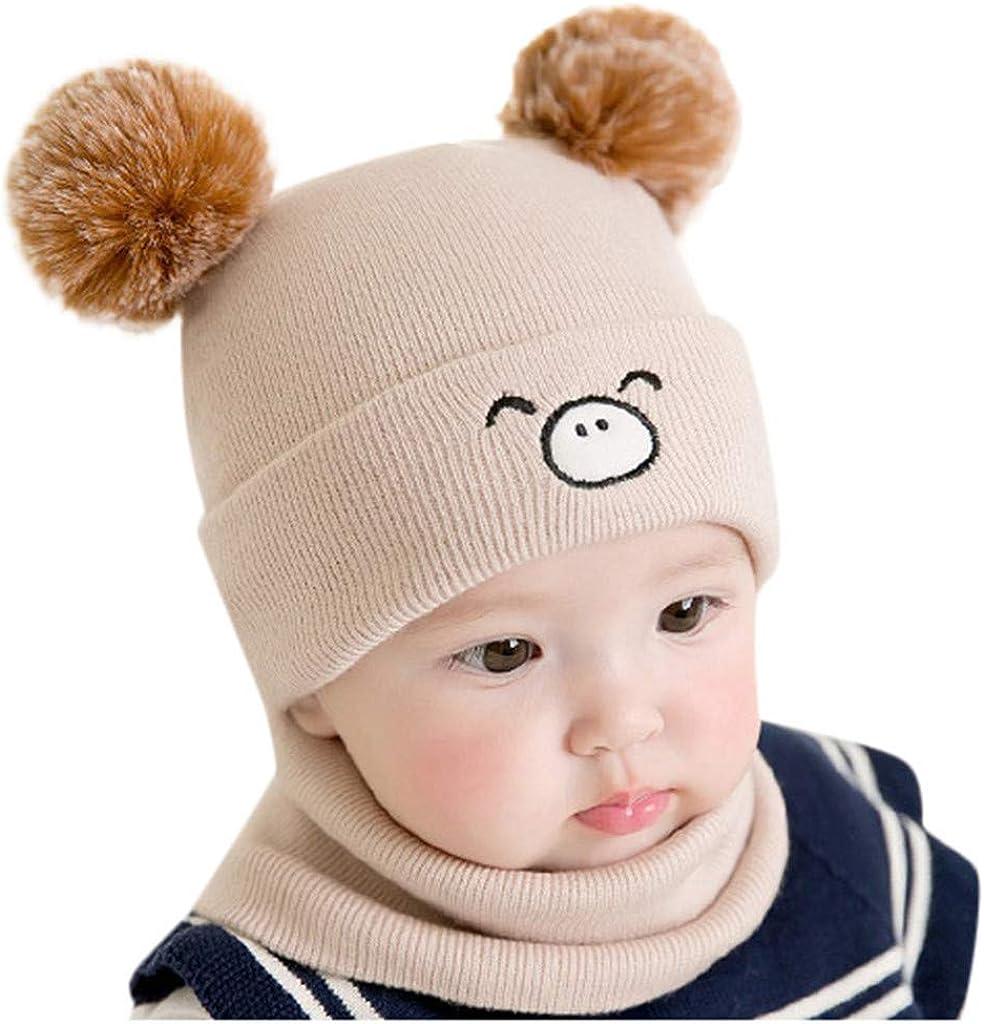Babybekleidung H/üte /& M/ützen Longra Niedlich Winter Baby Kinder M/ädchen Jungen Warm Woll Haube Kapuze Schal M/ützen H/üte