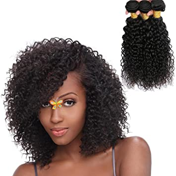 Amazon Com Jiren Brazilian Curly Hair Bundles 10 12 14inch