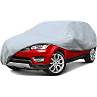 BonShine Sedan Car Cover UV Protection Dustproof Waterproof Windproof Auto Cover Protect Outdoor, Fits Up to 210 Sedan…