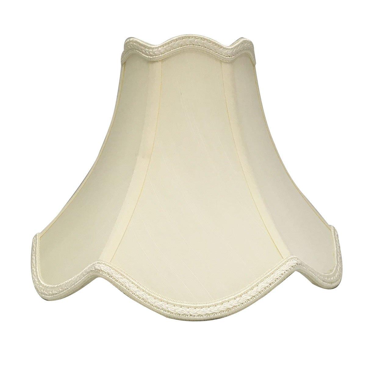 Royal Designs Scalloped Bell Designer Lamp Shade, Eggshell, 7.5 x 18 x 12