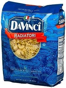 DaVinci Pasta Short Cuts, Radiatori, 16 Ounce Bags (Pack of 12)